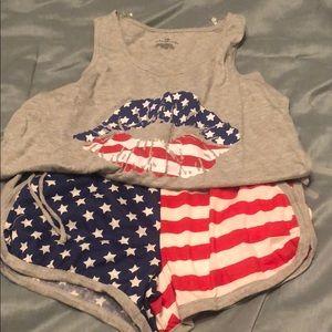 Bobbie Brooks patriotic short pajamas